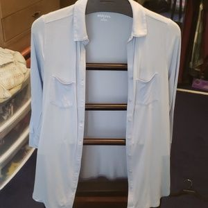 Soft Ice Blue Button Down Shirt